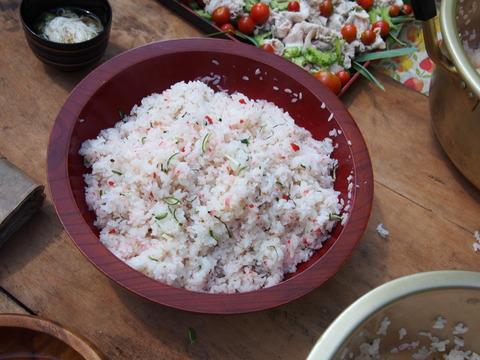 青摘みかん散らし寿司