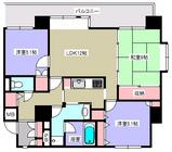 朝日プラザ駅前通・2F部分・3LDK・М・間取図