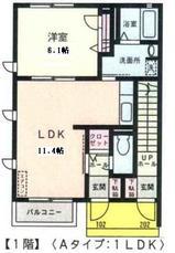 ソラティーオ�・�・1LDK・アパート・間取図