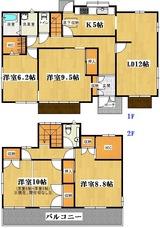 玉川2丁目・積水ハウス施工4SLDK・中古住宅・間取図
