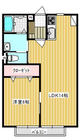 エクセル多賀城・1LDK・アパート・間取図