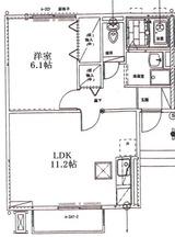 フローラ中央・1DK,1LDK・アパート・1LDK間取図