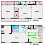 明月1丁目・4LDK・戸建貸家FJ・間取図