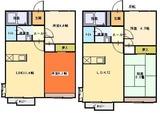 シティフローラル・2LDK・アパート・間取図