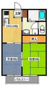 オーシャンメゾン・2DK・アパート・間取図