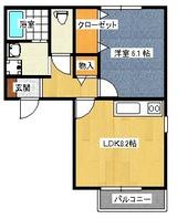 フローラ中央・1DK,1LDK・アパート・1DK間取図
