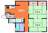 カマダ・インダス・2DK・アパート・間取図105号室