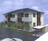 多賀城市高崎2丁目・新築AP・1LDK・外観パース1