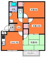 パセオステーブル我妻・3DK・アパート・間取図