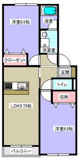 ウィングハウス・2LDK・アパート・間取図