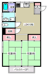 グリーンヴェール・2LDK・アパート・間取図