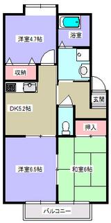 グレイスコート・3DK・アパート・間取図