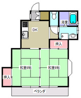 ムーンリットファウンテン・2K・アパート・間取図