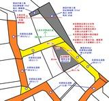 塩竈市藤倉三丁目・有効概算地積43坪・住宅用地・地形図