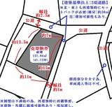 北浜二丁目・41坪・住宅用地・地形図