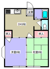 メゾン古都�・2DK・間取図