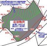 松島町磯崎字菱又・317坪・住宅用地・地形図