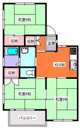 スズキレジデンス・3K・アパート・間取図