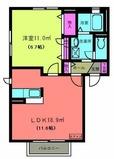 パルウッド・アパート・1LDK・間取図