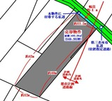 塩釜市大日向町・大型148坪・住宅用地・地形図