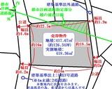 塩釜市清水沢4丁目・126坪・住宅用地・地形図