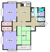 コーポおばた・3DK・アパート・間取図1