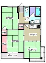 コーポスズキAB・3K・アパート・間取図