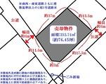 梅の宮・76坪・売土地・地形図