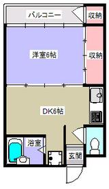 パークサイドB・1DK・アパート・間取図
