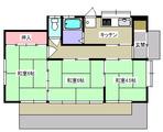 十三本塚・若生3K戸建貸家・間取図(5号)