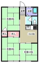 コーポ袖野田・間取図