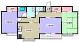 コーポおばた・3DK・アパート・間取図2