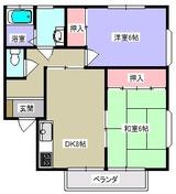 グレデュース・2DK・アパート・間取図