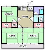 コーポ菅野・3DK・アパート・間取図