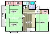 セジュールヴェル�・�・3DK・アパート・間取図