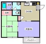 パークハウス・2DK・アパート・間取図2
