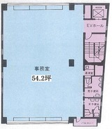 ネイヴ・シオミ五輪・5階建オフィスビル・2Fワンフロア・間取図