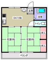 コーポ新和・2DK・間取図