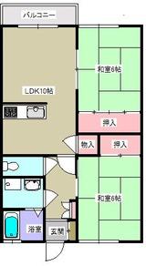 サンフラワー�・2LDK・間取図2