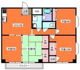 グリーンハイツ21・4DK・アパート・間取図