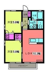 アステールアゴラー�・2LDK・アパート・間取図