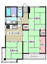 コーポスズキAB・3K・アパート・間取図2