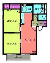 サンパティオA・2LDK・アパート・間取図