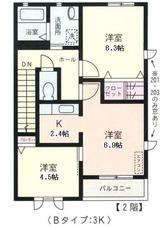 ソラティーオ・3K・アパート・間取図