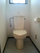 コーポスズキAB・3K・アパート・トイレ