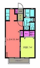 アステールアゴラー�・1LDK・アパート・間取図