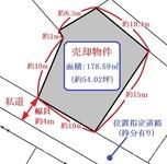 七ヶ浜町東宮浜字御林・54坪・売土地・敷地図