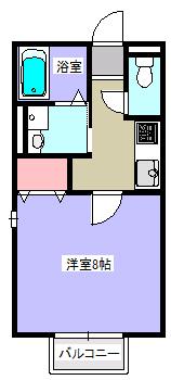 ラ・メール・1K・アパート・間取図