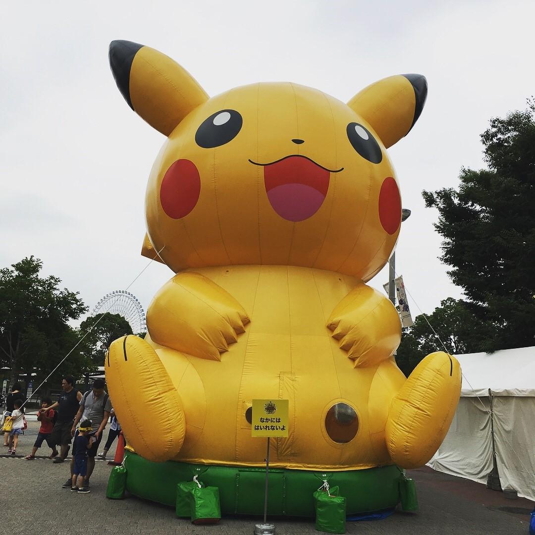 汐野辺日記帳:夏の思い出1 ピカチュウ大量発生チュウ!&ポケモンgoパーク