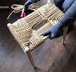 飛騨の木工スツール作り